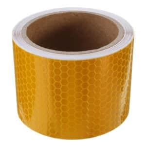reflectorband, reflecterende tape, veiligheids tape, reflector, refelcterende, geel