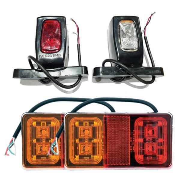 Verlichtingsset 11 aanhanger LED